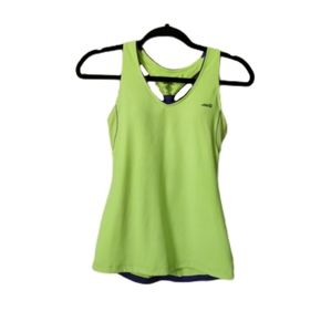 Avia Yellow Padded Athletic Tank Top Small